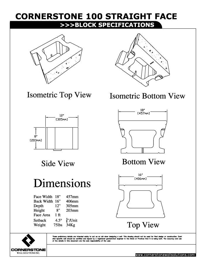 cornerstone-unit-specifications