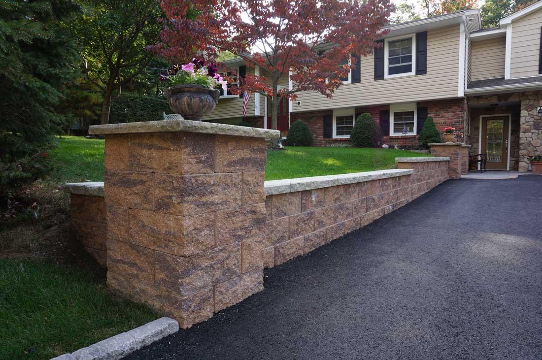 Corner Block Landscaping Ideas : Cornerstone retaining wall block photos