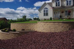 Cornerstone-retaining-wall-blocks-for-terrace-entrance-feature