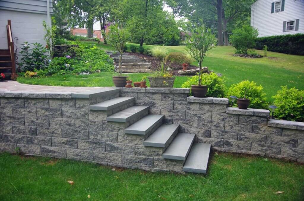 Superbe Cornerstone Retaining Wall Blocks Used For Landscape Stairs
