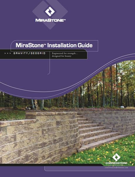 Mirastone retaining wall installation guide diy landscaping