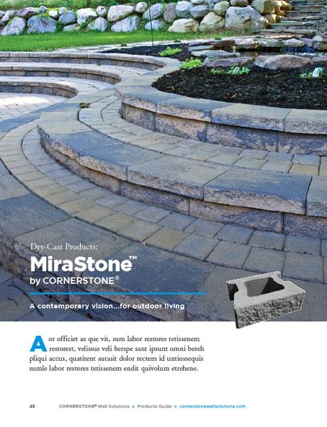 Mirastone retaining wall brochure diy landscaping