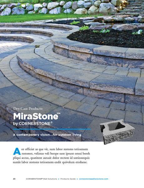 Mirastone retaining wall brochure diy landscaping