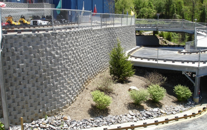 Fun Depot - Asheville North Carolina retaining walls
