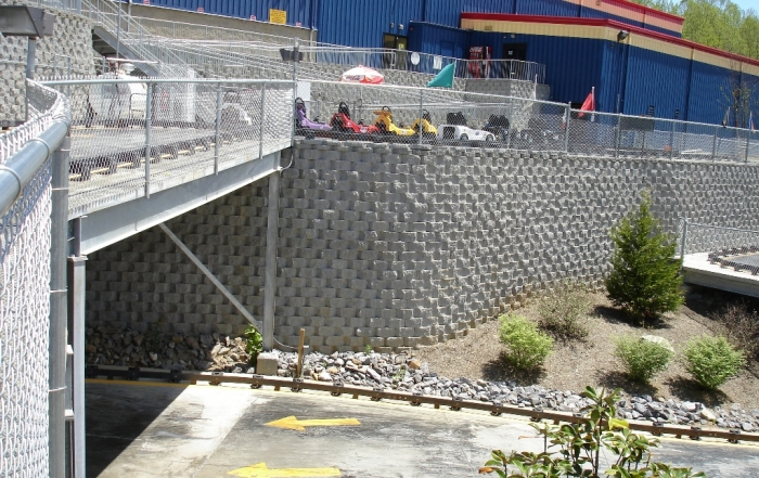 Fun Depot North Carolina retaining walls