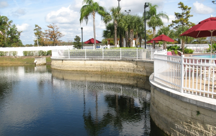 CornerStone retaining walls in water