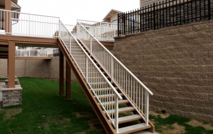 CornerStone retaining wall with stairs