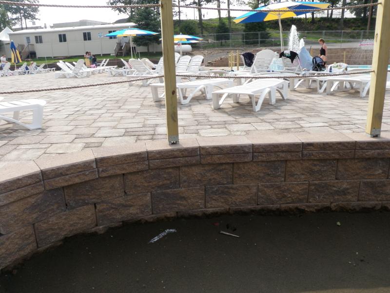 CornerStone retaining wall with paving stones
