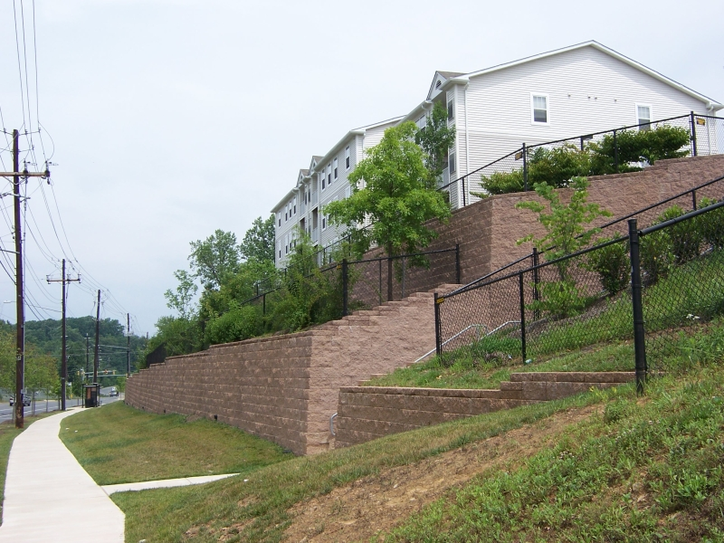 Airpark Terraced retaining walls
