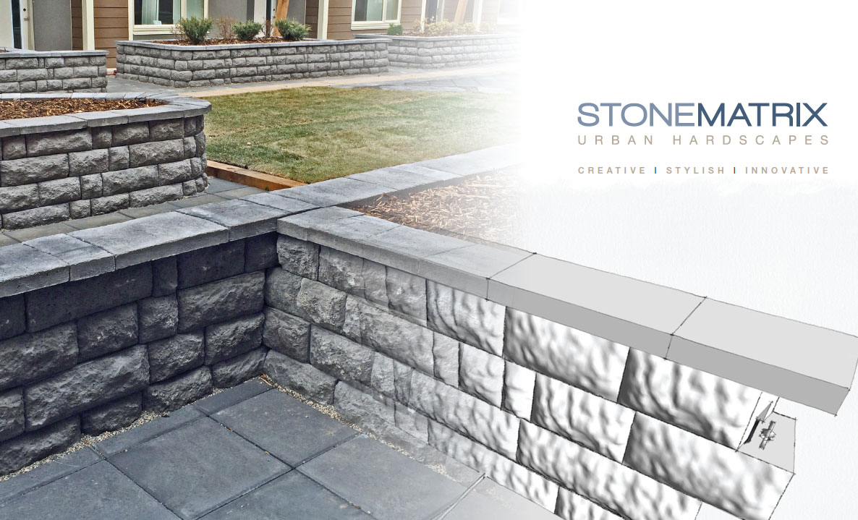 StoneMatrix retaining & Free standing walls