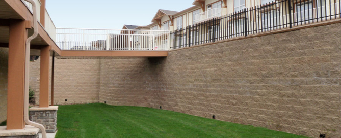Cornerstone retaining wall bridges