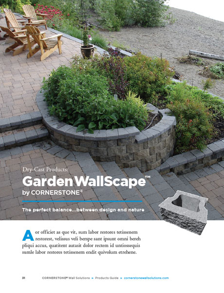Garden Wallscape Block Retaining Wall CornerStone Solutions