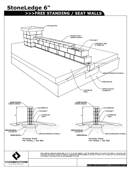 StoneLedge Free Standing Walls | CornerStone Wall Solutions