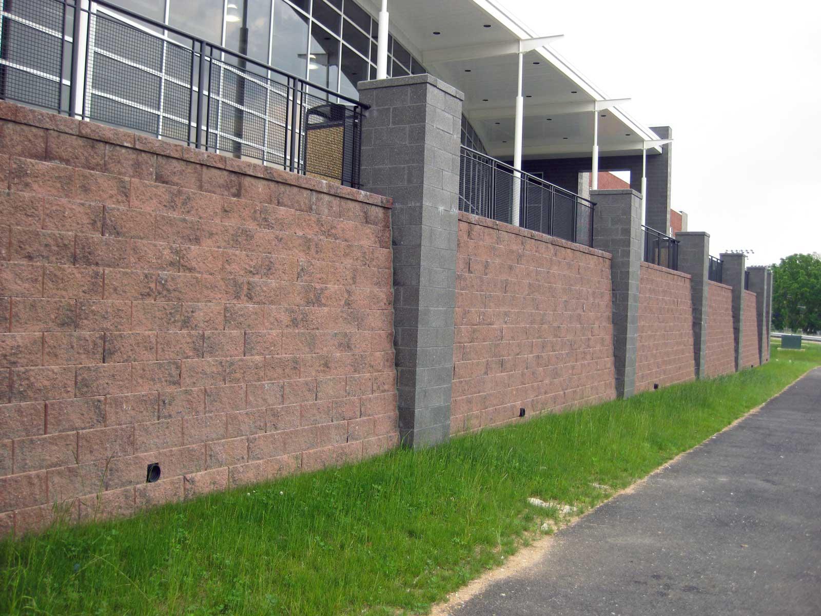 Red Lion High School Cornerstone Block Retaining Wall