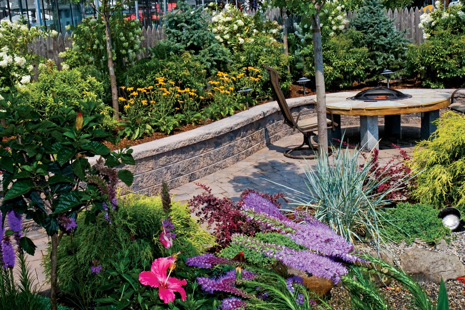 frogstone garden retaining wall