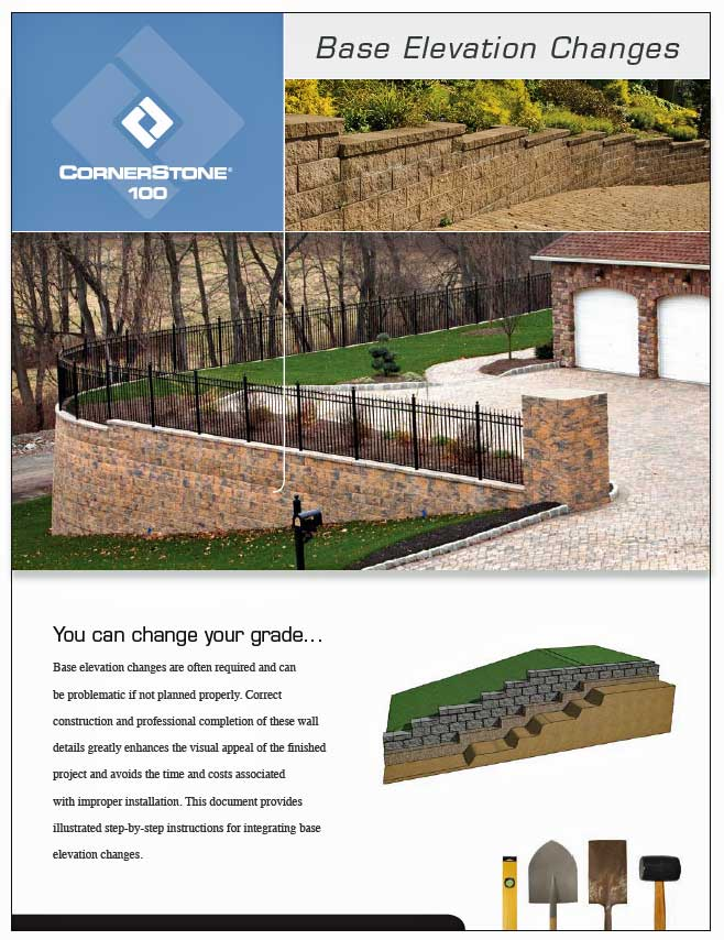 Retaining Wall base elevation change link to download PDF
