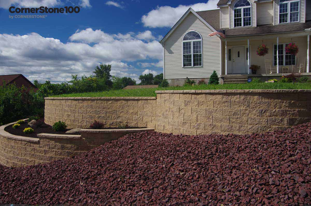 Retaining Wall Curves by CornerStone walls