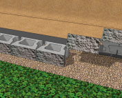 cornerstone 100 gravity retaining wall