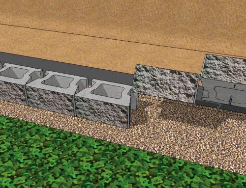 CornerStone 100 Gravity Retaining Wall Installation