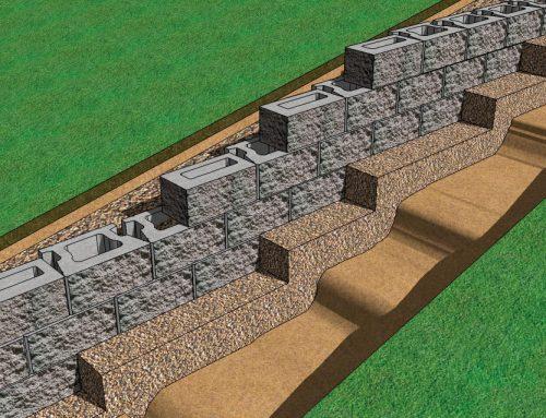 CornerStone Retaining Wall Block Base Elevation Change