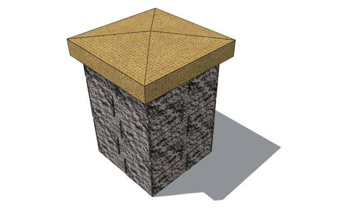 stoneledge stone pillars