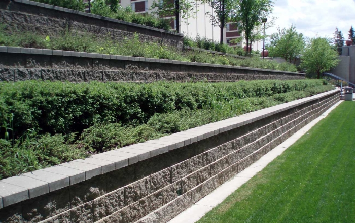 SAIT cornerstone retaining walls