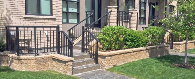 Modern Looking Retaining Wall Blocks for entrance