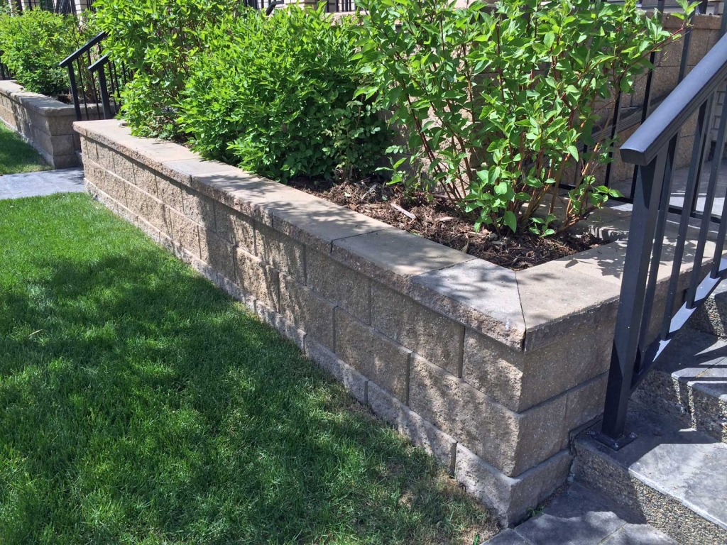 Stone Wall Blocks : Modern looking retaining wall blocks cornerstone