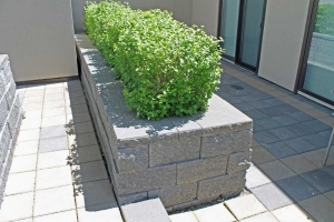 green roof block for planter