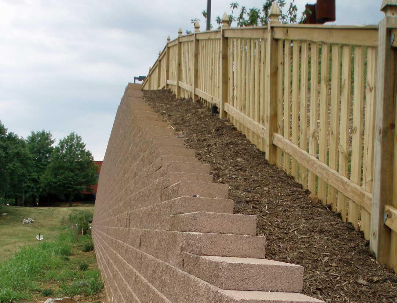 CornerStone Block Retaining Wall Hilton Garden Inn Capping