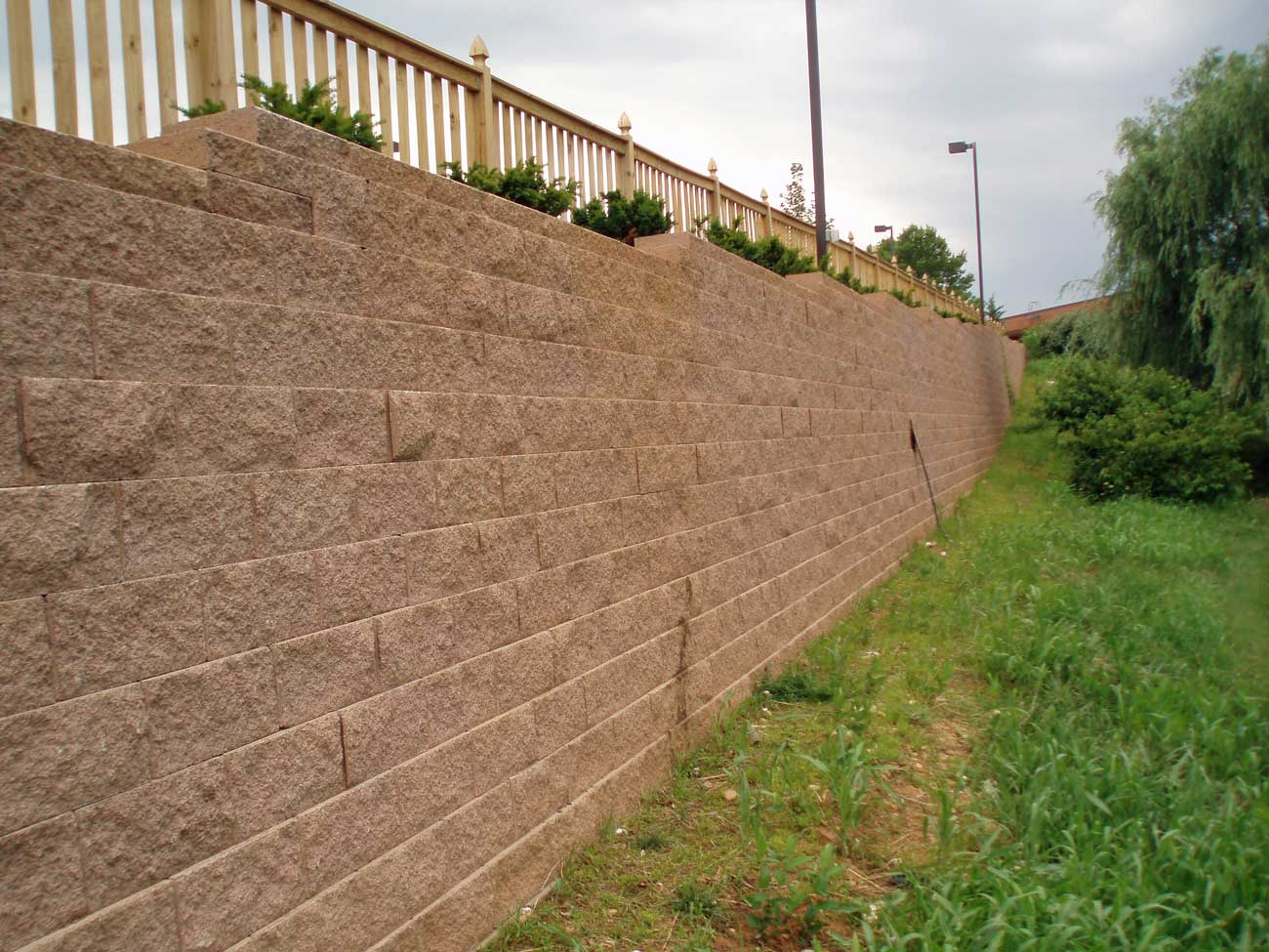 CornerStone block retaining wall Hilton Garden Inn