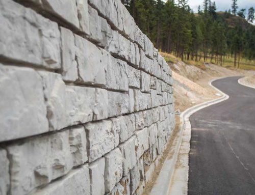 MagnumStone Big Block Retaining Wall in Kelowna, B.C.