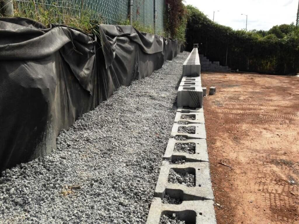 CornerStone Retaining Wall Permeable Concrete No Fines