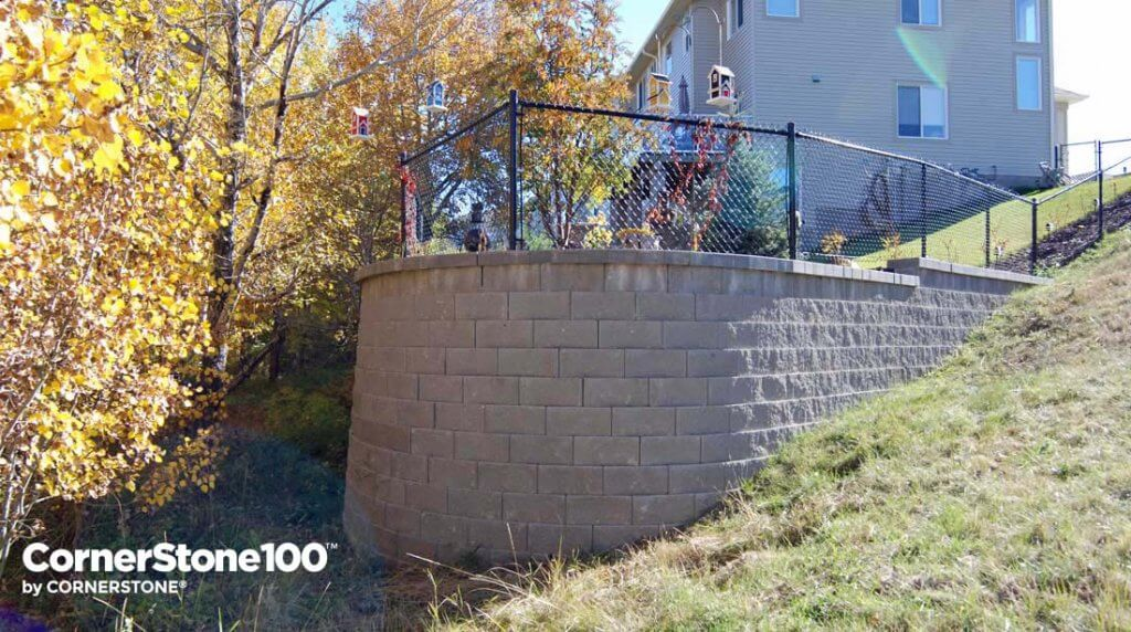 Extend-Your-Yard-Fill-with-Cornerstone Retaining wall-block