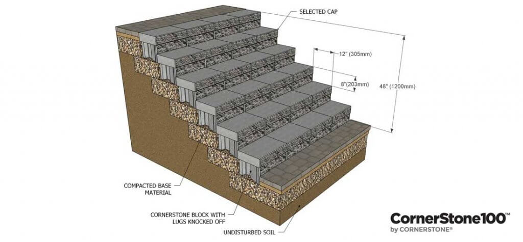 How-to-build-Landscape-Stairs-Using-CornerStone-wall-Blocks