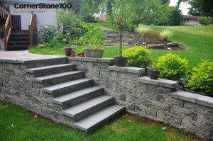 Landscape-Stairs-Using-CornerStone--retaining-wall-Block