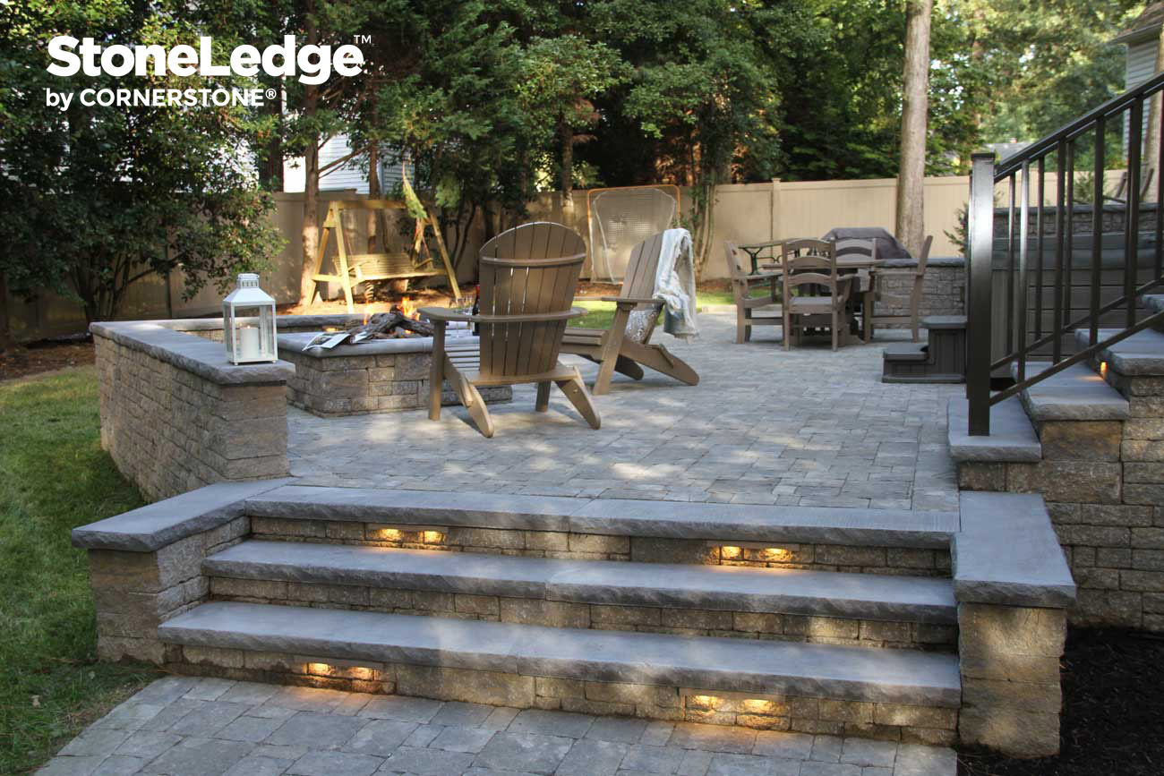 Exceptionnel Landscape Stairs Using StoneLedge Block