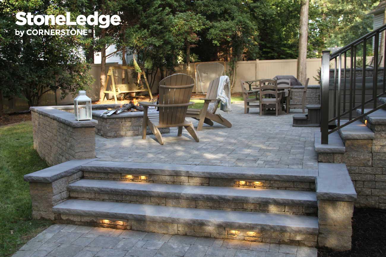 Landscape Stairs Using StoneLedge Block