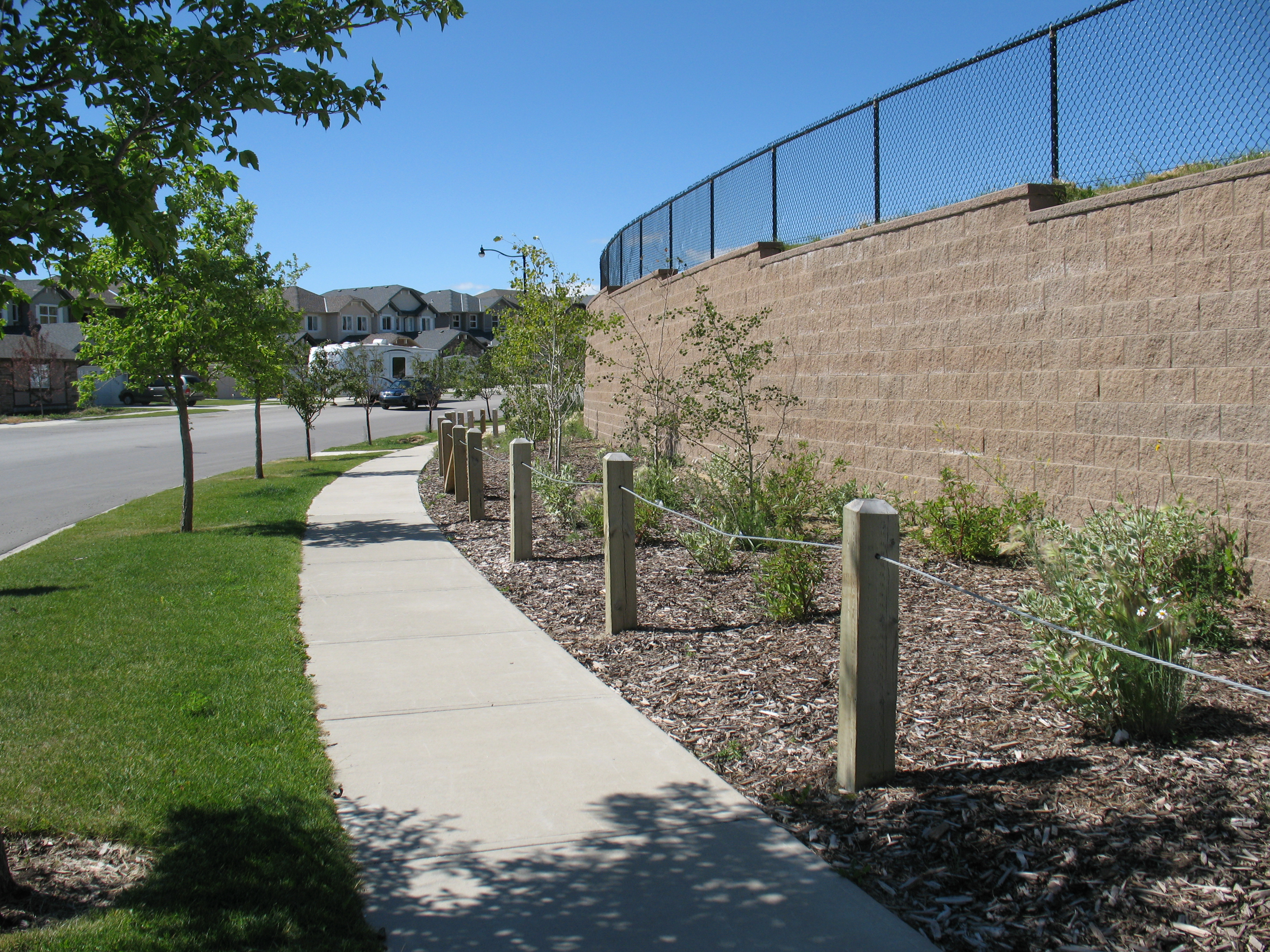 POST-iN Retaining Wall Project