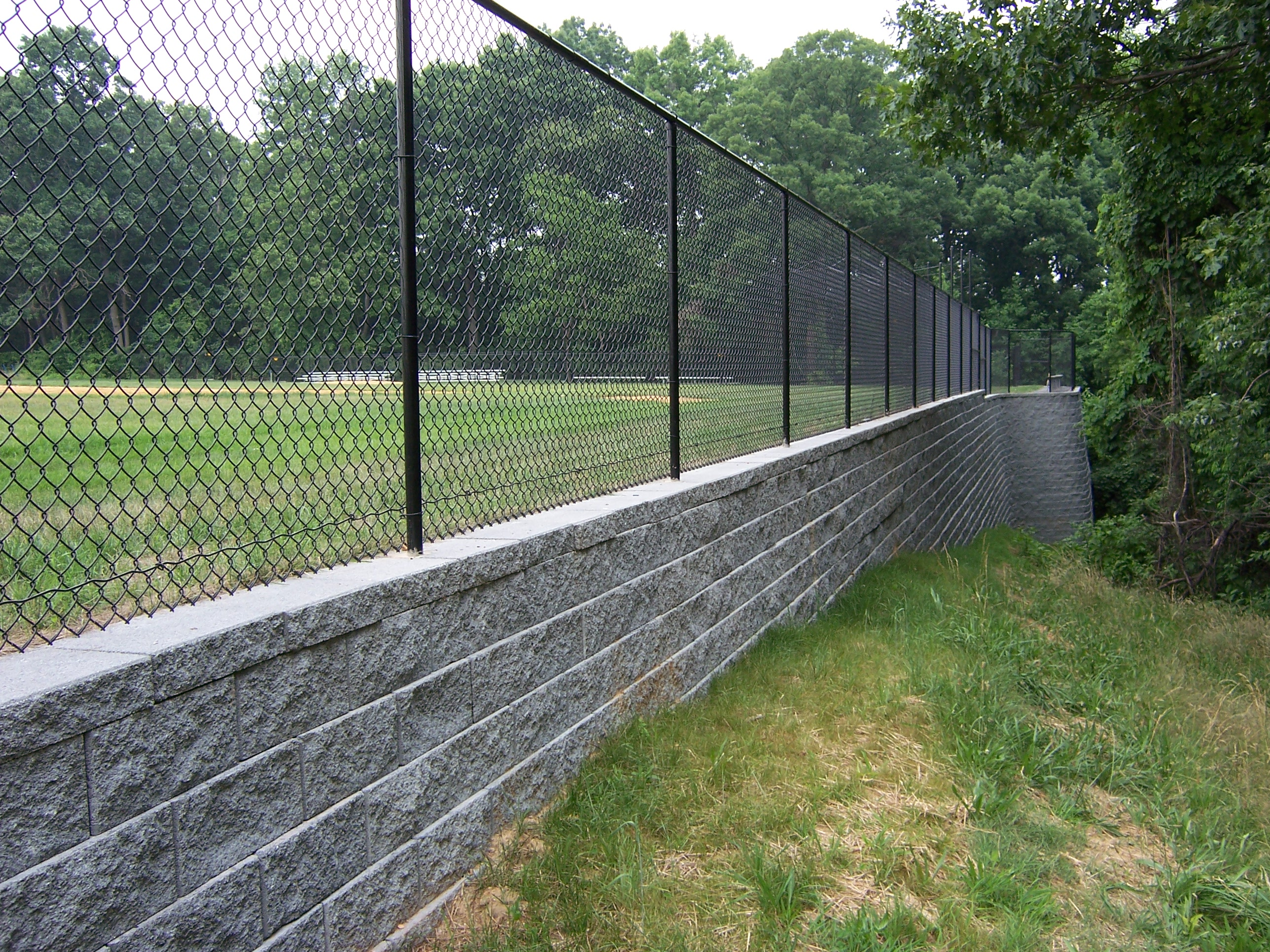Post In Retaining Wall Northwood Project