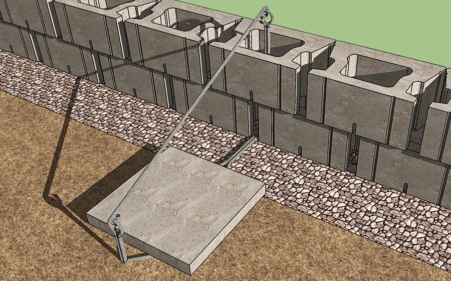 POST-iN Retaining Wall Installation 1