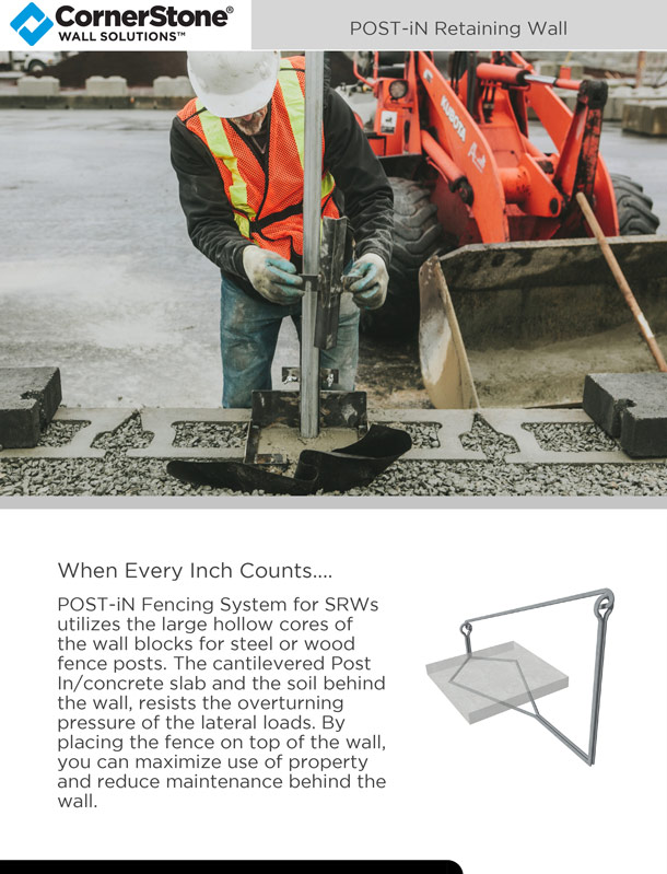POST-iN Retaining Wall Brochure