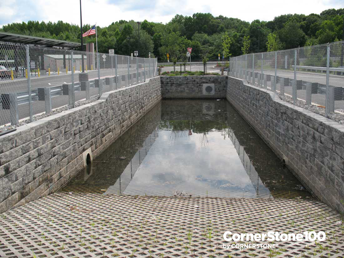 CornerStone-retaining-wall-block-water-application-and-wet-pond-2-new-jersey-transit-wayne-route-23