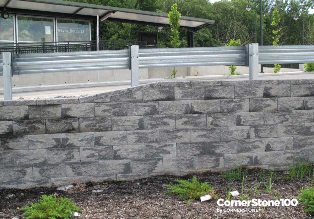 CornerStone-retaining-wall-parking-lot-new-jersey-transit-wayne-route-23