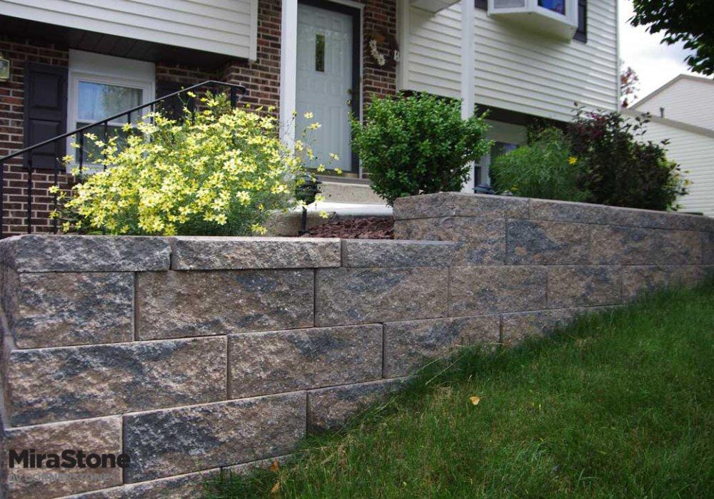 Mirastone Retaining Wall Libertystone Hardscapes