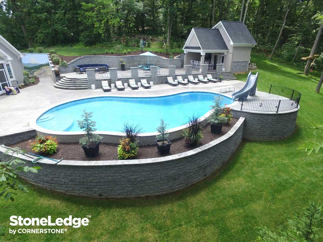 Harrisonburg virginia StoneLedge-Retaining-wall-with-pool