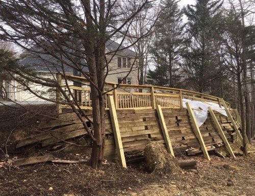 Replacing Old Wood Retaining Walls