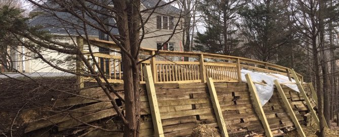 Replacing Old Wood Retaining Walls