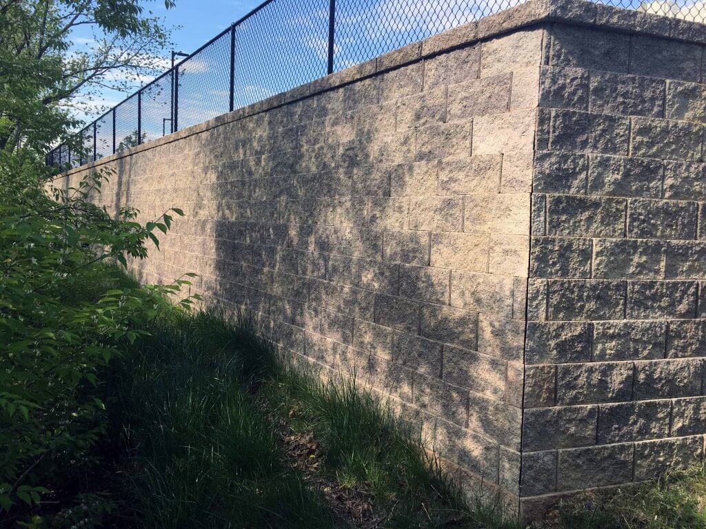 CornerStone Retaining Wall Corner - The Bottling Plant Apartments