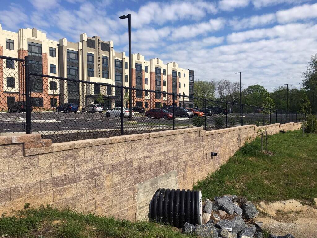 CornerStone Retaining Wall Drainage - Frederick, Maryland